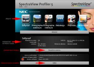 Spectraview profiler nec graph'image