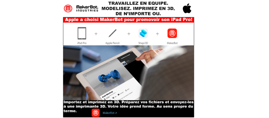 Apple a choisi MakerBot