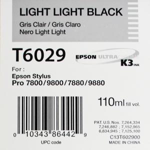Epson T6029 (C13T602900) - Cartouche d'encre Gris Clair 110ml
