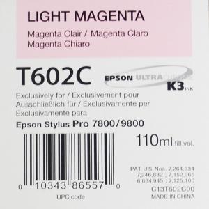 Epson T602C (C13T602C00) - Cartouche d'encre Magenta Clair 110ml