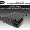 table de découpe à plat summa f1832