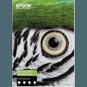 Epson S450275 (C13S450275) - Papier Fine Art Cotton Smooth Bright épaisseur 300g A3+